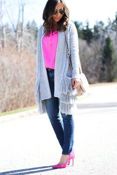 Pink and fringe