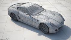 Illés Gábor 06 - Ferrari 599GTB Wireframe