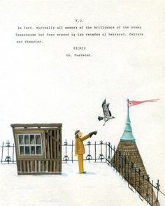 Original paintings with typewriter on paper by Max Dalton for our 6th annual Wes Anderson art show.