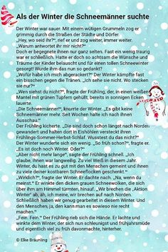 Als der Winter die Schneemänner suchte Baerbel Heins Kindergarten Portfolio, Daily Health Tips, Quotes And Notes, German Language, Student Gifts, Story Time, Life Skills, Elke Bräunling, Winter Wonderland