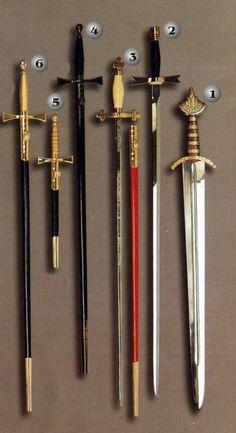 Historic swords from Acero Toledano, Swords from toledo, Gladius, etc.