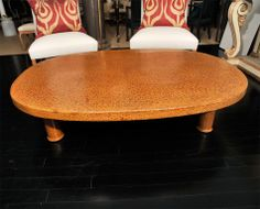 Lacquered Rattan Japanese Tea Table |