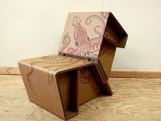 Papp-Hocker MAKS, natur, 4 Stück - Pappmöbel – Shop für Möbel aus ...