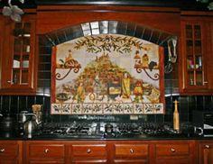 Italian kitchen backsplash installation idea