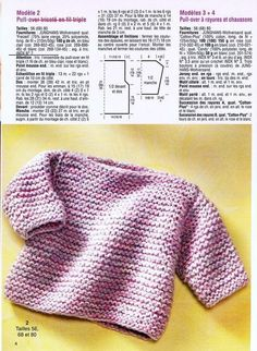 Knitting baby sweaters: cute models for your little sweethe Baby Cardigan Knitting Pattern, Baby Boy Knitting, Knitted Baby Cardigan, Crochet Poncho, Knitting For Kids, Baby Knitting Patterns, Free Knitting, Tricot Baby, Baby Sweaters