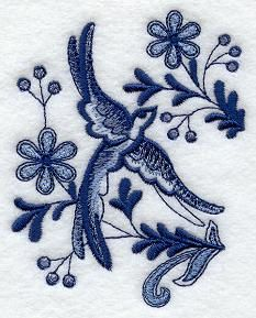 Machine Embroidery Designs at Embroidery Library! - Delft Blue Birds