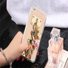 Luxury DIY Rhinestone Golden Chain Iphone 6/6s Case