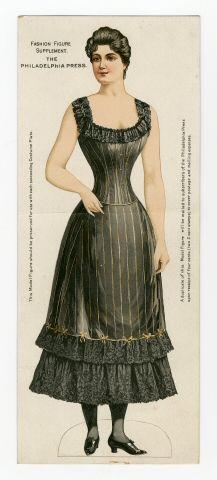 75.2361: Fashion Figure 1895  paper doll