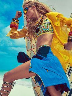 """Wild Child"" Caroline Trentini for Vogue Brazil November 2015"