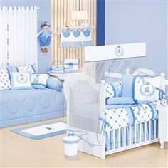 Quarto para Bebê Classic Azul