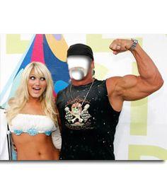 #Fotomontaje para poner tu cara en el #cuerpo de hulk hogan junto a una #chica #rubia. #músculos #abdominales #biceps www.fotoefectos.com