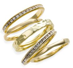 Slim stackable rings