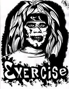 Exercise by IBENTMYWOOKIEE, check out more of his work on DEVIANT ART The Exorcist, Deviant Art, Horror, Darth Vader, Exercise, Check, Fictional Characters, Collection, Ejercicio