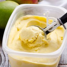 Clean Eating No Churn Mango Ice Cream (I'd like to try this with something besides coconut milk)
