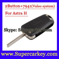 [Visit to Buy] Free Shipping  (1pcs)  2 Button Flip Remote Key  with PCF7941 For Vauxhall Opel Astra 2008 2009   #Advertisement