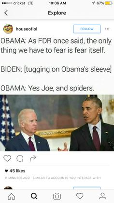 Found this on Instagram  Joe and Barack