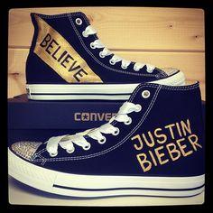 Justin Bieber Believe Custom Converse with...