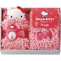 Hello kitty bath mat towel set