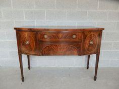Henkel Harris Federal Hepplewhite Style Mahogany Sideboard Buffet  | eBay