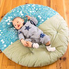 【送料無料】赤ちゃんのプレイスペースやおむつ替え、お昼寝などにピッタリな直径1mの洛中高岡屋せんべい座布団。出産祝いに大人気です!