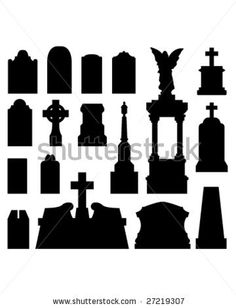 Image detail for -... And Gravestones As Vector Silhouettes - 27219307 : Shutterstock