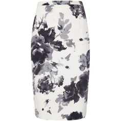 Damsel in a dress Margot Skirt, Print (€46) ❤ liked on Polyvore featuring skirts, bottoms, dresses, faldas, pencil skirts, print pencil skirt, patterned skirts, print skirt, flared pencil skirt and cotton skirts