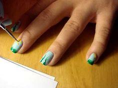 Tutorial: Children's Artwork Inspired Nail Design-- Spring   #Nailart  Like,Repin Share :)