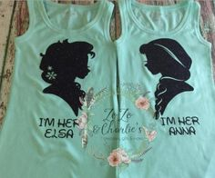 I'm Her Elsa, I'm Her Anna sibling shirts for Disney.