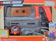 The Black & Decker 15 Piece Tool Set Assortment comes with three different tool sets that all emphasize unique ways to build. The Learning Tool Set features all the essential hand tools. The Starter T