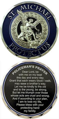 St Michael Protect Us Policeman's Prayer Challenge Coin