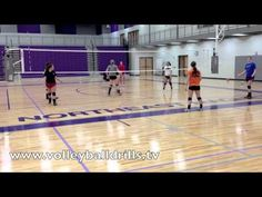 Volleyball offensive drill: The Cage