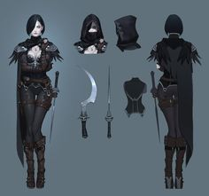personal work  cold- hearted woman character concept