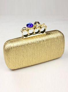 Glod Fashion Satchels Bag With Studded$45.00