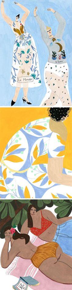 Isabelle Feliu fashion illustration   lifestyle illustration   illustrated ladies   curvy ladies