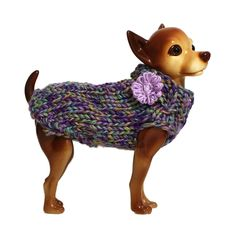 Dog Clothes Hand Knit Dog Sweater by NandoKnits on Etsy Pet Sweaters, Knit Dog Sweater, Pet Shop, Loom Knitting, Hand Knitting, Moda Animal, Gadget, Animal Fashion, Dog Fashion