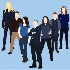Bobbi Morse, Lance Hunter, Skye, Phil Coulson, Melinda May, Leo Fitz, Jemma Simmons || by vibraniumshield || #fanart