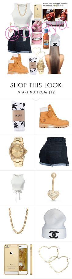"""""""CC"""" by dnaya ❤ liked on Polyvore featuring Timberland, Invicta, WithChic, Gioelli, CC, JETech and Thalia Sodi"""