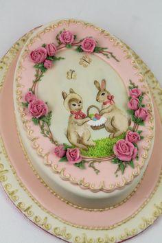 French Vintage Easter Cake by Tortenherz