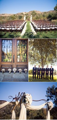 If this was the setting, I would to and out door wedding
