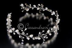 Wedding Hair Vine of Freshwater Pearls and Rhinestones
