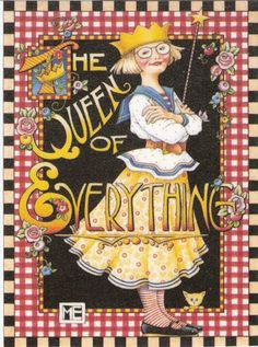 The Queen of Everything Refrigerator File Cabinet Art Magnet Mary Engelbreit Art | eBay