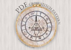 Gravity Falls cross stitch pattern - Bill Cipher's wheel by LittleRoomInTheAttic on Etsy