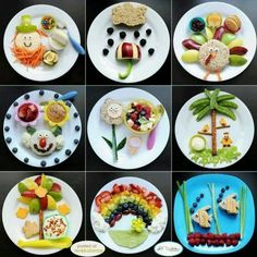 Fun kids food plates by ollie Healthy Meals For Kids, Kids Meals, Healthy Recipes, Healthy Kids Breakfast, Breakfast Ideas, Healthy Foods, Funny Breakfast, Healthy Eating, Healthy Lunches