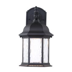 Hampton Bay Oxford Collection Black Outdoor LED Wall Lantern-HB7041LEDP-05 - The Home Depot