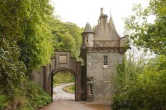 Ballindalloch Castle gate, Scotland. You reach this after trekking the path through the forest as I did.