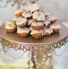Mini donuts for wedding guests! | Wedding Desserts: 20 Guilt-Free Cakes & Desserts via @insideweddings