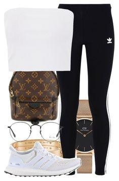 """Untitled #2450"" by triskid ❤ liked on Polyvore featuring Daniel Wellington, Louis Vuitton, Cartier, adidas Originals, Topshop, adidas and Ray-Ban"