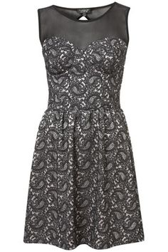 Paisley Lace Mesh Top Tunic from TopShop