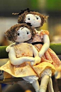 My heart will always belong to cloth dolls.  куклы подружки