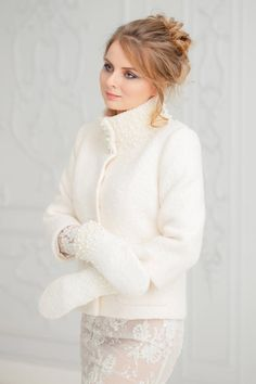 Unique handmade bridal jackets & coats by ANLaceStudioShop Winter Wedding Coat, Winter Bride, Winter Coat, Wedding Jacket, Wedding Wear, Wedding Suits, Ivory Wedding, Dream Wedding, Bridal Cover Up